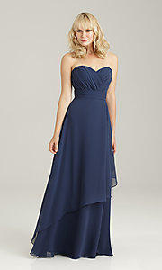 Long Strapless Sweetheart Bridesmaid Gown