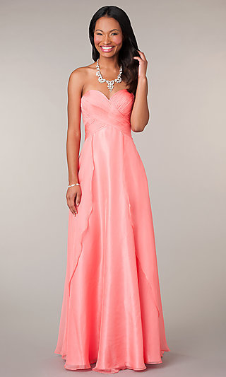 Strapless Long Prom Dress by Alyce