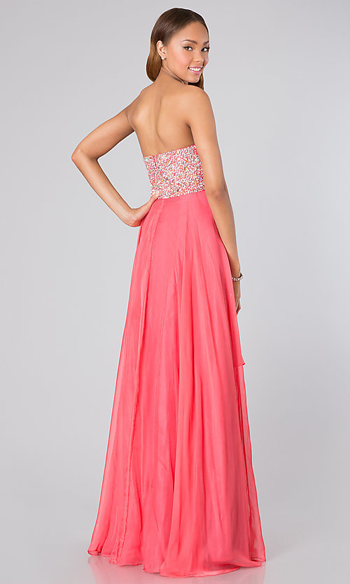 Long Strapless Prom Dresses, Alyce Strapless Prom Gowns- PromGirl
