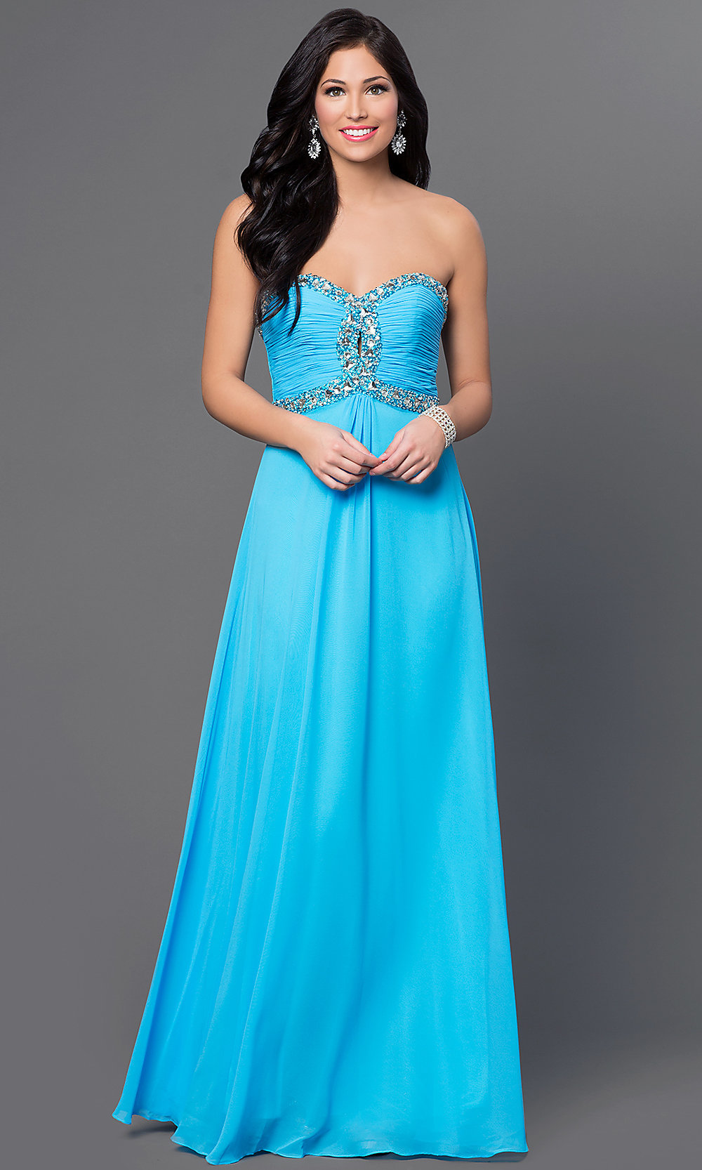 Celebrity Prom Dresses, Sexy Evening Gowns - PromGirl: Strapless ...