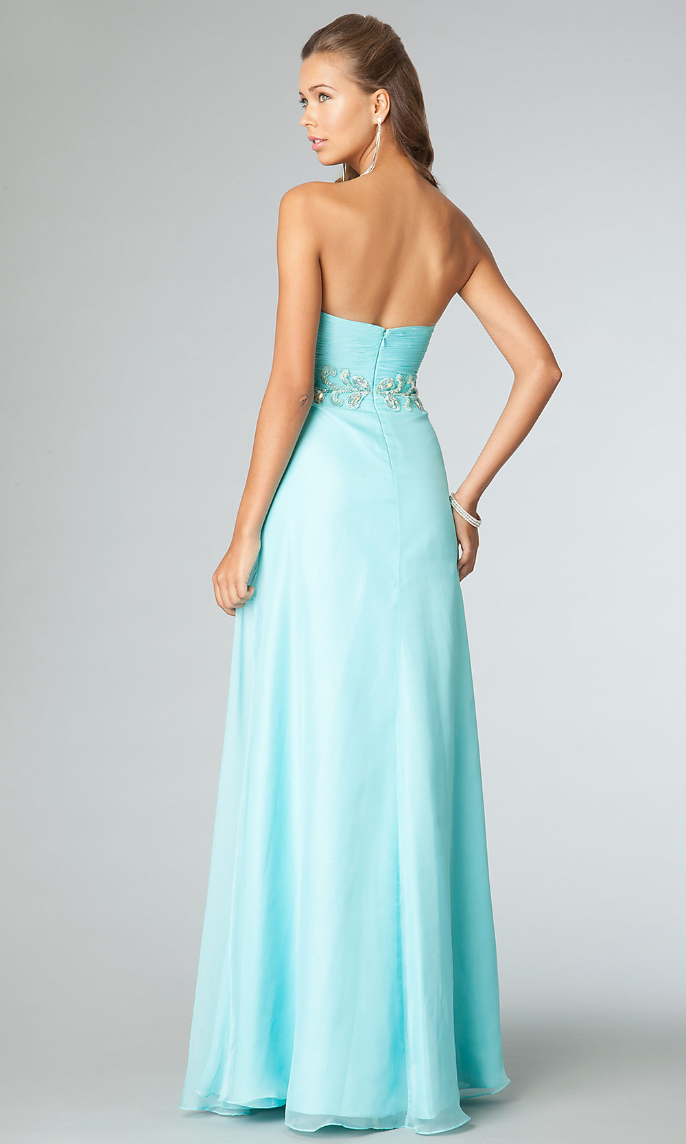 Strapless JVN by Jovani Pink Prom Gown - PromGirl