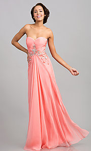Strapless JVN by Jovani Pink Prom Gown