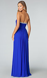Image of beaded-sweetheart strapless prom gown JVN by Jovani. Style: JO-JVN-JVN90365 Back Image