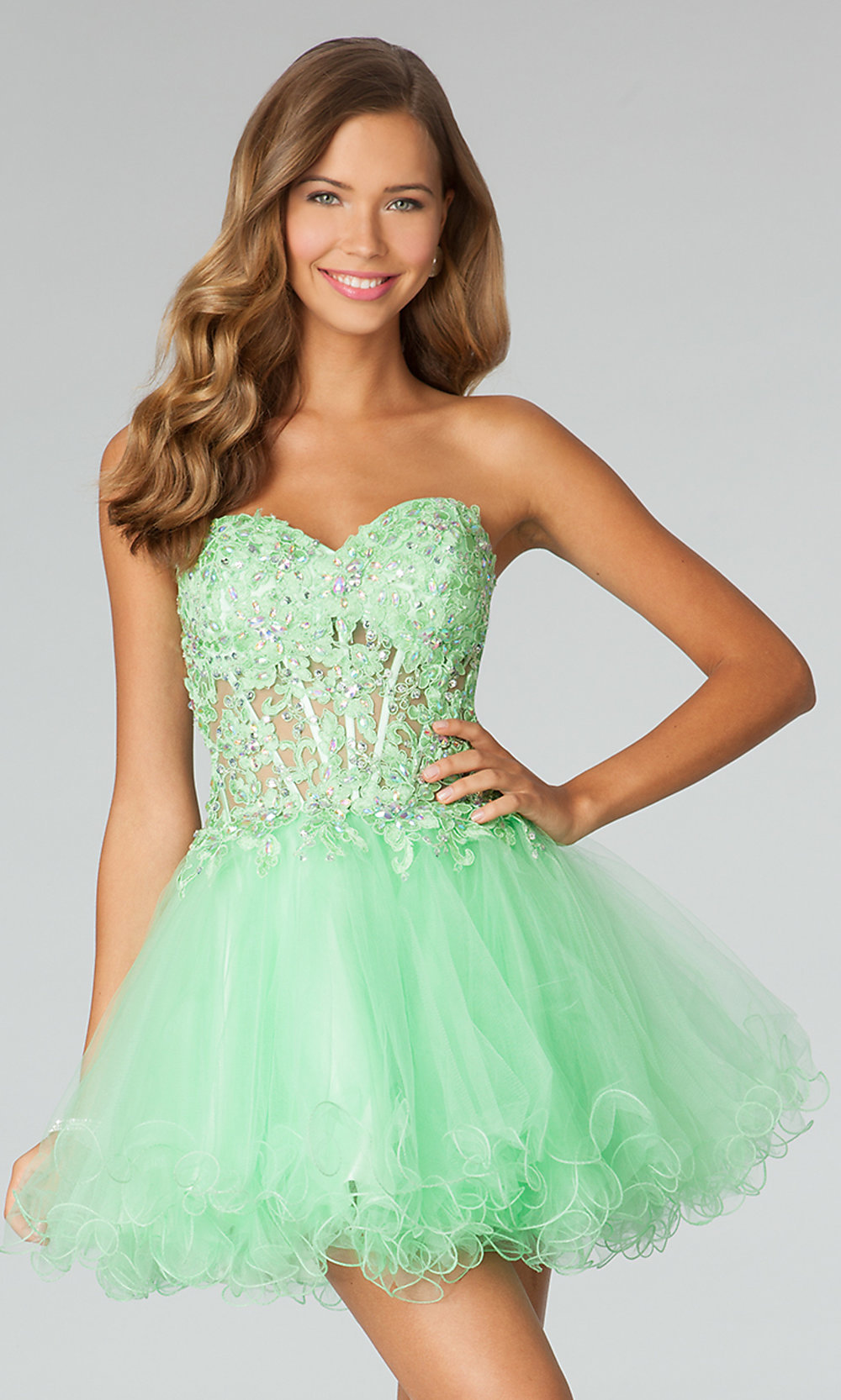 Baby Doll Prom Dress Jovani Strapless Corset Dresses