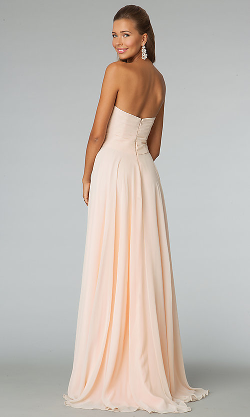 Image of strapless sweetheart JVN by Jovani prom gown.  Style: JO-JVN-JVN88171 Back Image