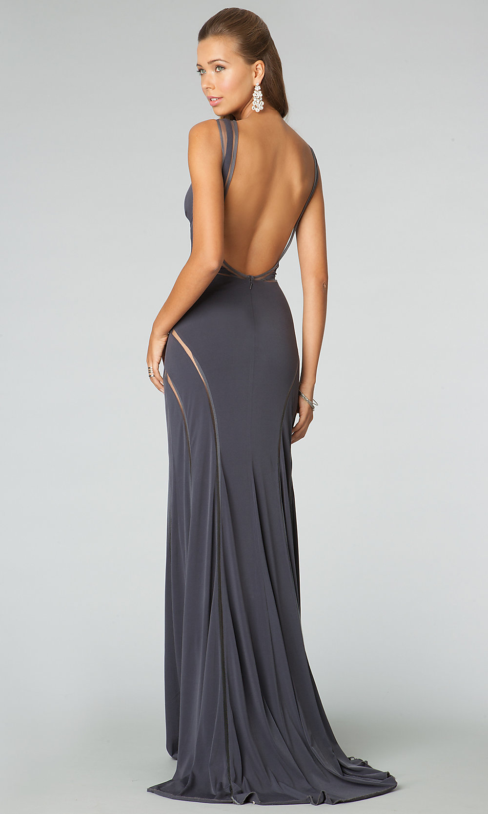 Long Sleeveless Formal Dresses Sexy Prom Evening Gowns Promgirl