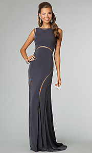 Long Sleeveless Open Back JVN by Jovani Dress