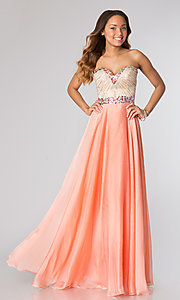 Sherri Hill Beaded Strapless Prom Dress