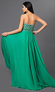Image of Sherri Hill Beaded Gown Style: SH-8546 Back Image