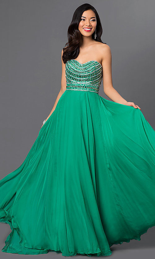Image of Sherri Hill Beaded Gown Style: SH-8546 Front Image