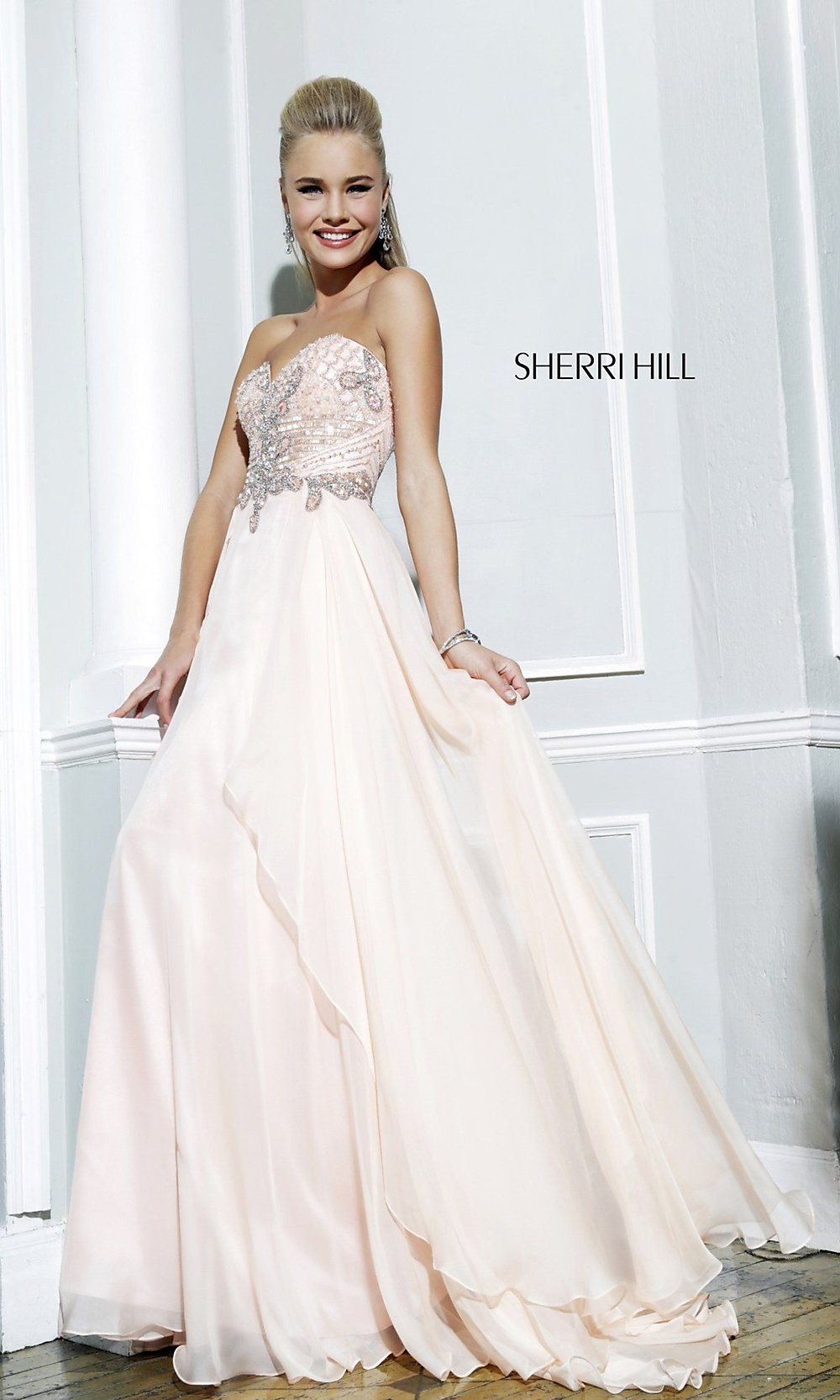 Strapless Prom Gown, Sherri Hill Strapless Gown for Prom-PromGirl