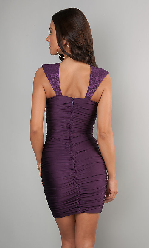 Short Prom Dress Style: AT-8131 Back Image