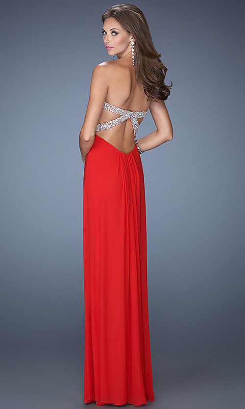 Long Prom Dress Style: LF-19663 Back Image