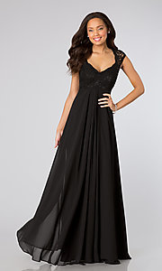 Long Prom Dress Style: ML-693 Front Image