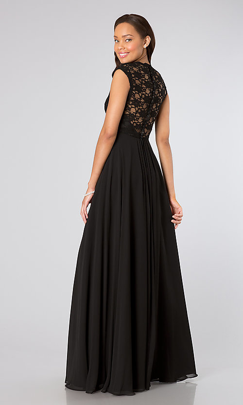 Long Prom Dress Style: ML-693 Back Image