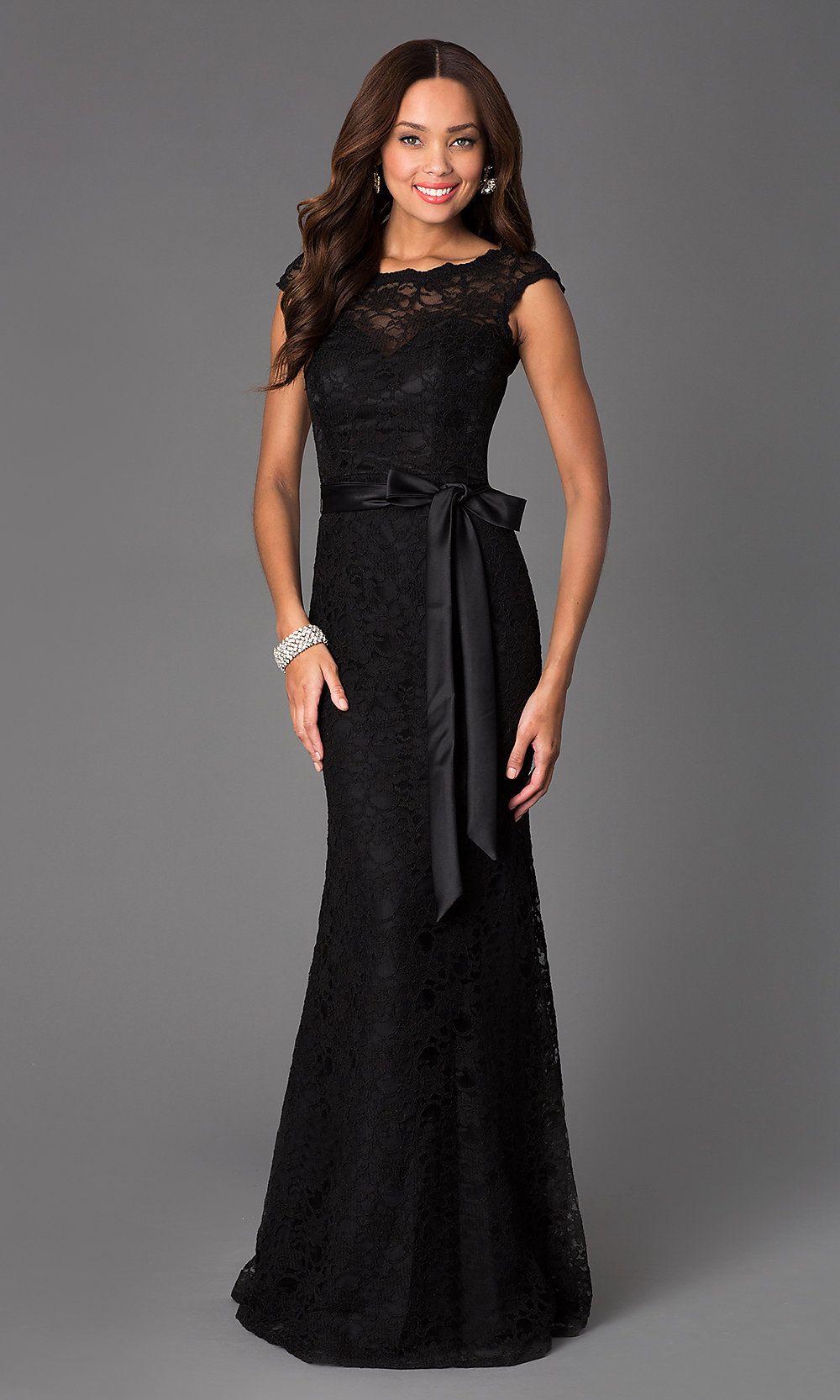 Black Lace Evening Gowns, Mori Lee Black Prom Dresses- PromGirl