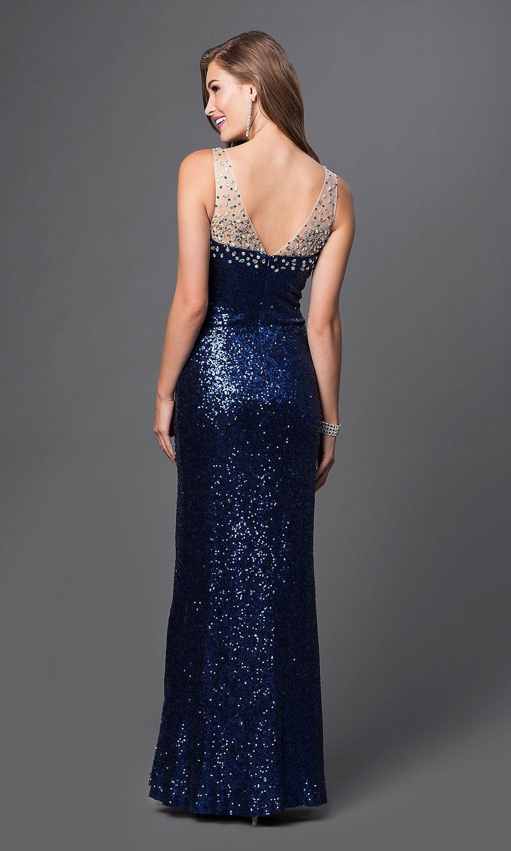 Blue Sparkle Prom Dresses
