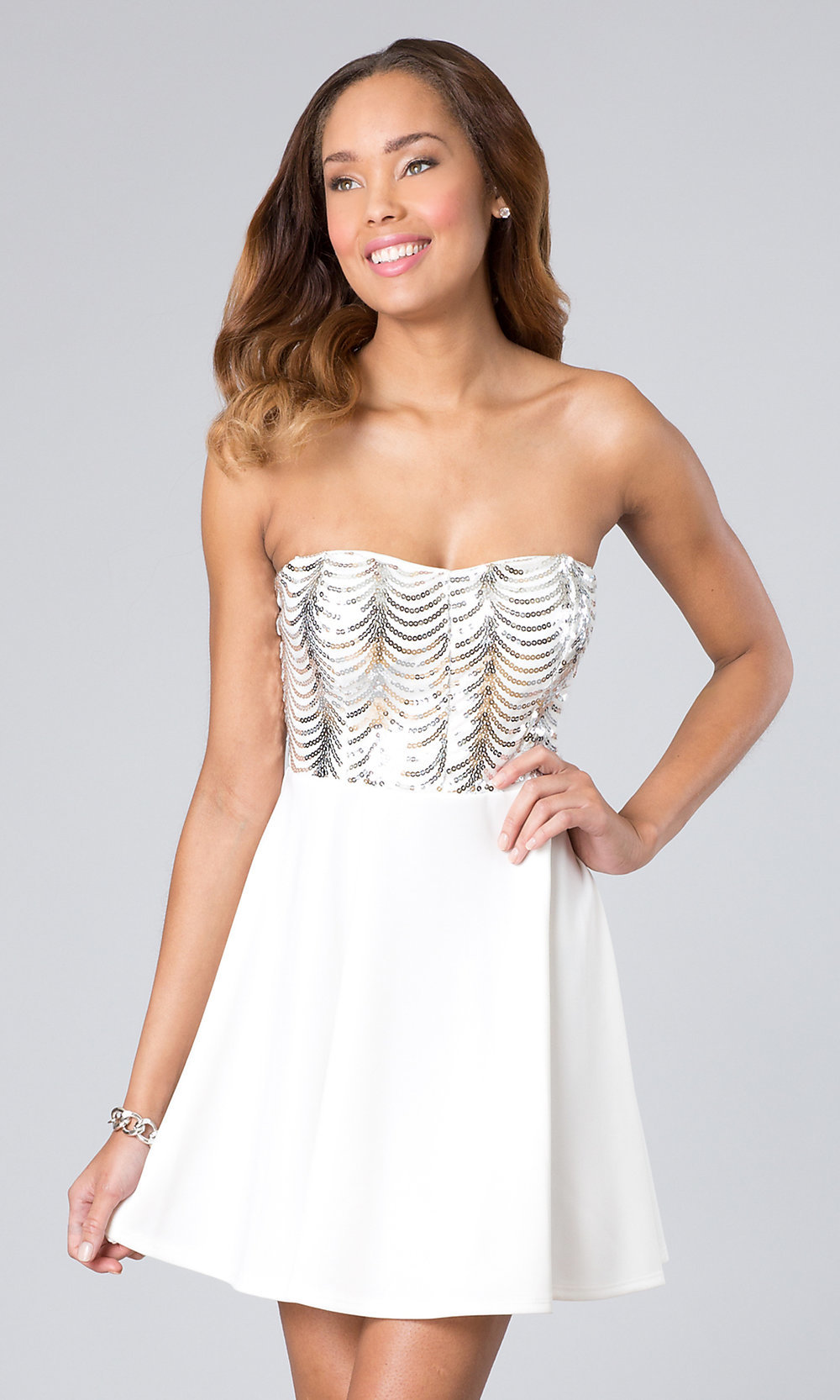 Strapless Short Prom Dress, Graduation Dress -PromGirl