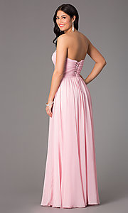 Image of Long Strapless Prom Gown Style: DQ-8693 Back Image