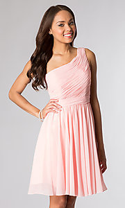 One-Shoulder Short Asymmetrical Prom Dress