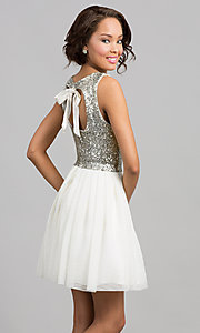 Short dress with sequin top by Bee Darlin. Style: BD-I5865954 Back Image