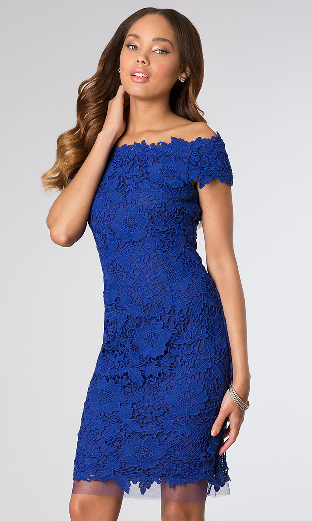 off the shoulder lace dresses