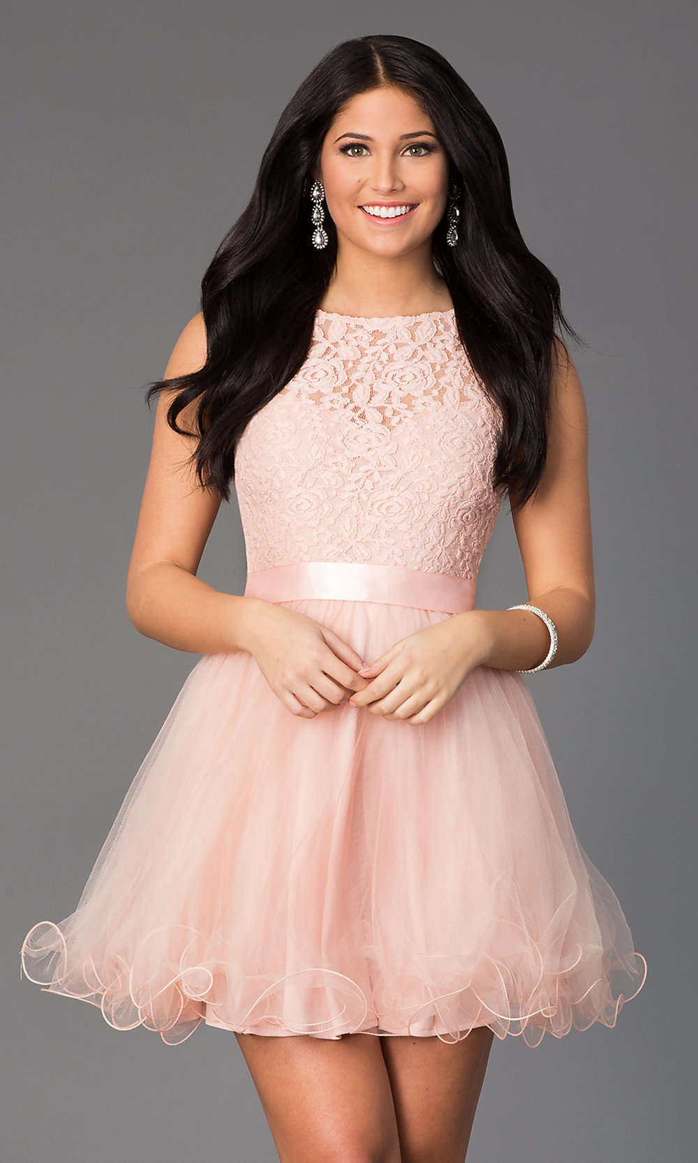 Short Semi-Formal A-Line Party Dress - PromGirl