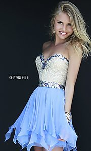 Short Strapless Sherri Hill Dress 1928