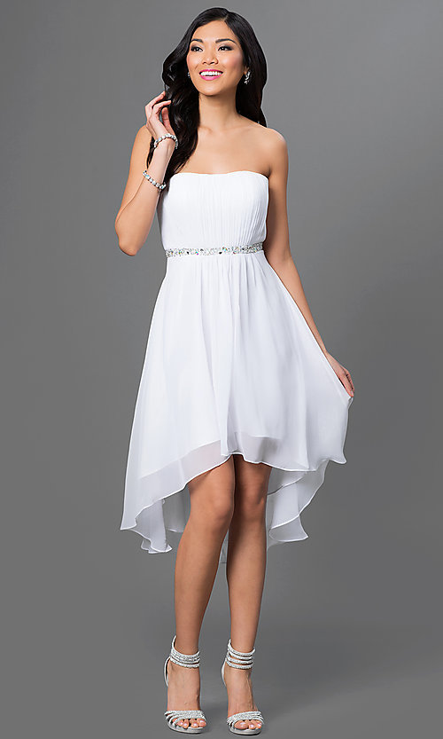 Short Homecoming Dress Style: DQ-8626w Front Image