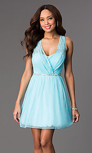 Short Sleeveless V-Neck Dress by Speechless