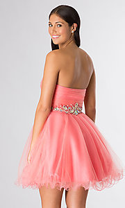 Image of short strapless prom dress by Elizabeth K. Style: FB-GS1139 Back Image
