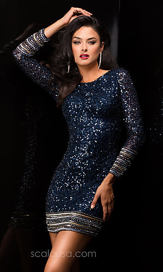 Prom Dresses- Celebrity Dresses- Sexy Evening Gowns: Long Sleeve ...