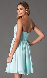Image of Mori Lee Short Strapless Dress Style: ML-191 Back Image