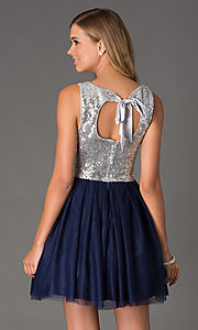 short sequin blue dress Style: BD-D586C964 Back Image