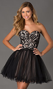 lace up party dress Style: NA-6027 Front Image