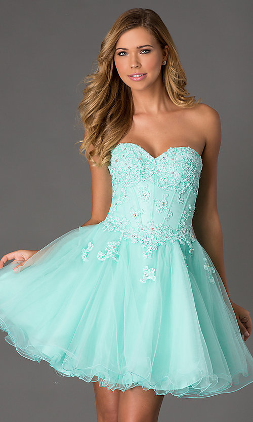 corset style prom dress Style: NA-6032 Front Image