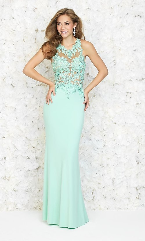 Image of Long Sleeveless Madison James Dress Style: NM-15-160 Front Image