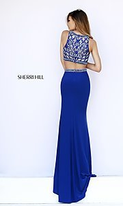 Image of Sherri Hill Two Piece 2017 Prom Dress Style: SH-9731 Detail Image 3