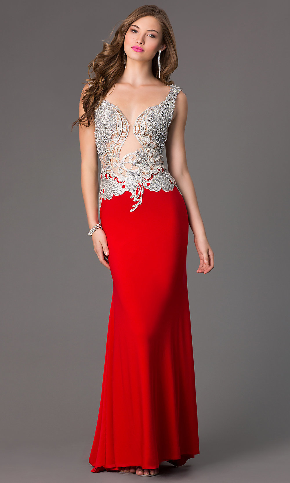 Beaded Evening Gown for Prom, Alyce 2425 Prom Dress