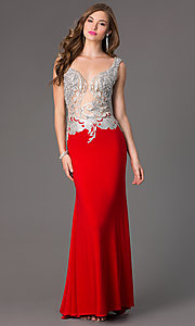 Image of Beaded Evening Gown for Prom Alyce 2425 Style: AL-2425 Front Image