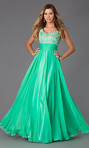 Image of Long Scoop Neck Formal Dress Alyce 35689 Style: AL-35689 Detail Image 1