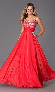 Image of Long Scoop Neck Formal Dress Alyce 35689 Style: AL-35689 Front Image