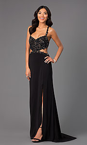 Image of Sweetheart Neckline Open Back Prom Dress  Style: AL-35699 Detail Image 2