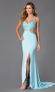 Alyce Sweetheart Neckline Open Back Prom Dress