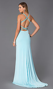 Image of Sweetheart Neckline Open Back Prom Dress  Style: AL-35699 Back Image