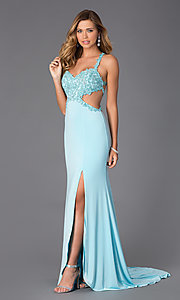 Image of Sweetheart Neckline Open Back Prom Dress  Style: AL-35699 Detail Image 1
