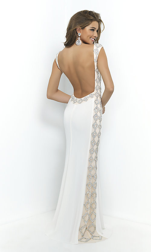 Image of Blush Open Back Prom Gown  Style: BL-9924 Back Image