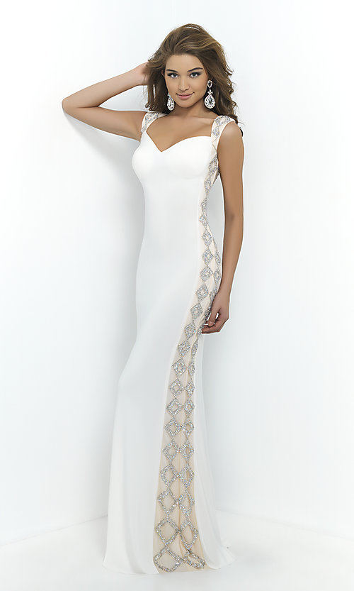 Image of Blush Open Back Prom Gown  Style: BL-9924 Front Image
