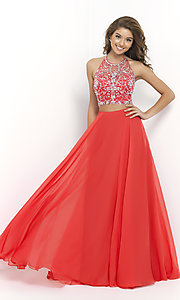 Beaded Two Piece Prom Dress by Blush 9935