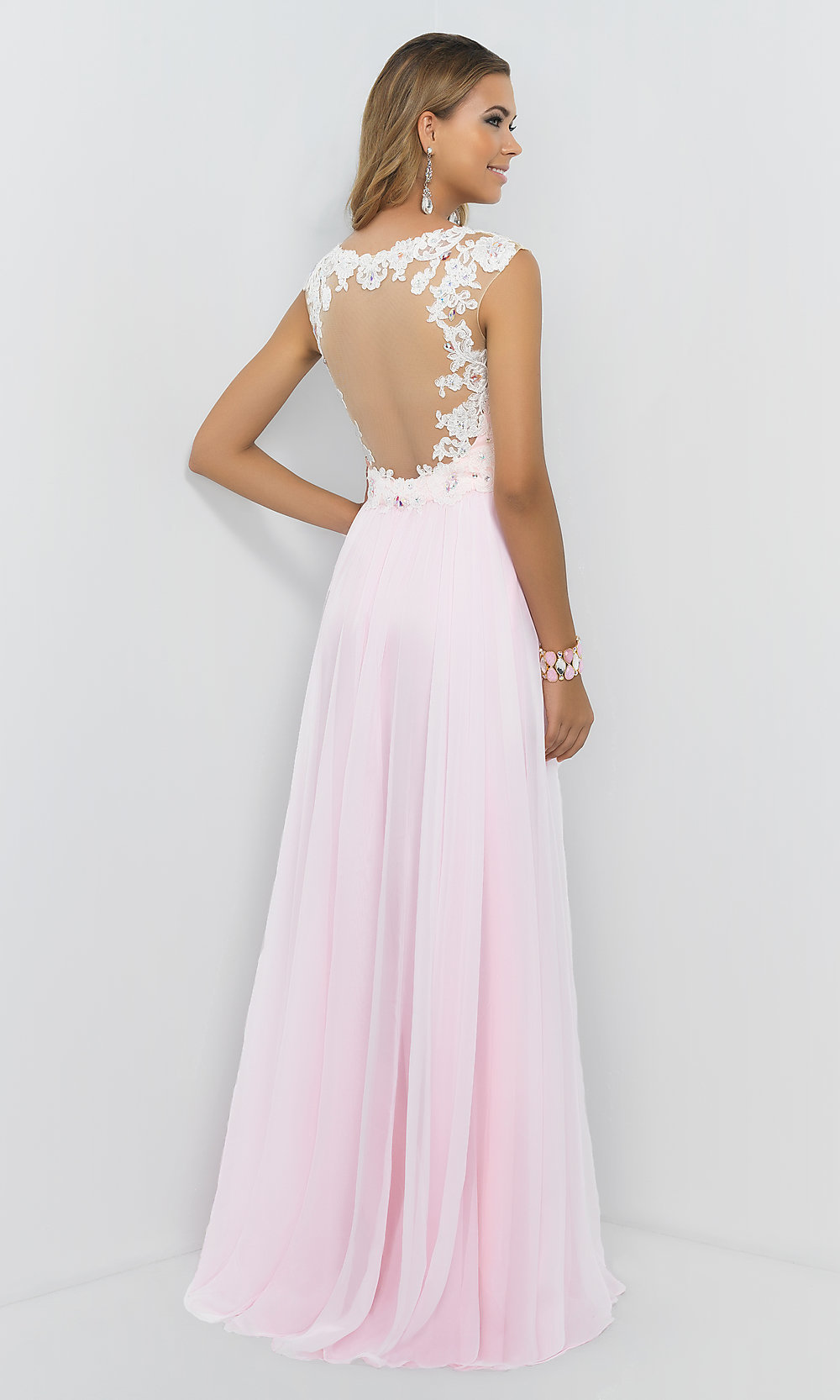 Cap Sleeve Pink Prom Ball Gown 9986